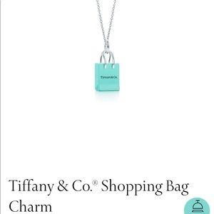 "Tiffany's Bag Charm Necklace 18"""